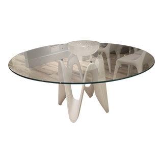 Sovet Italia Glasstop Round Table For Sale