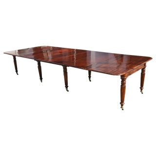 Period Early 19th Century Irish Regency Cuban Mahogany Dining Table For Sale
