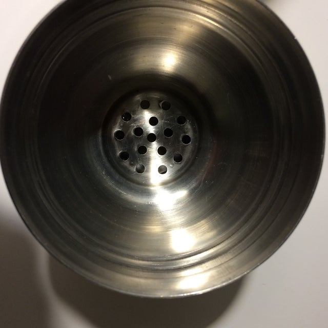 Mid-Century Stainless Steel 24 oz Cocktail Shaker - Image 7 of 10