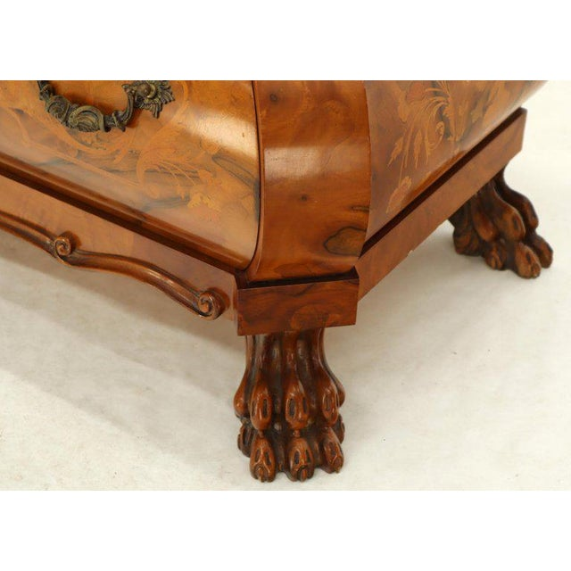 Italian Bombe Inlay Olive Wood Dresser Drop Front Jewerly Compartment Secretary For Sale - Image 12 of 13