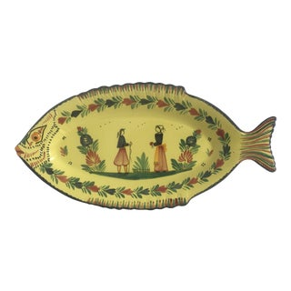 Hb Quimper Soleil Fish Platter For Sale