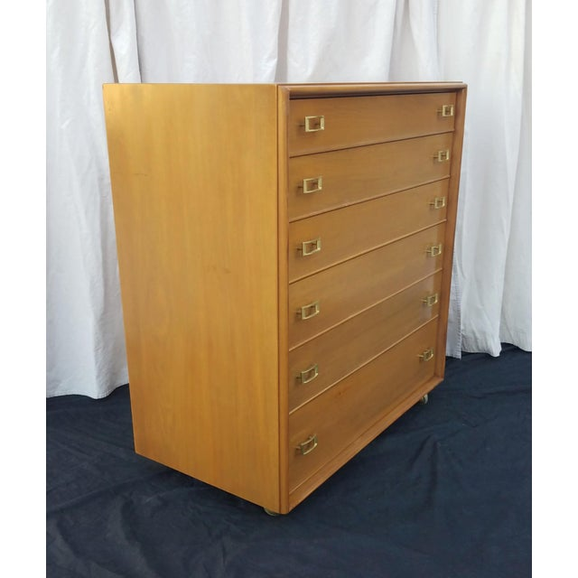 Mid-Century Modern 1950s Mid-Century Modern Paul Frankl for Johnson Furniture Co. Gentleman's Chest For Sale - Image 3 of 12