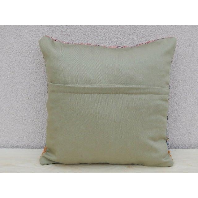 Handmade Turkish Kilim Pillow For Sale - Image 4 of 5