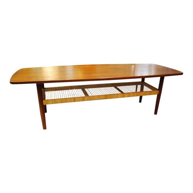 Circa 1960s Danish Modern Teak Coffee Table - Image 1 of 7
