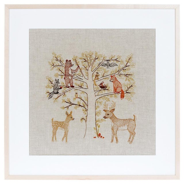 Woodland Family Framed Textile Art - Image 3 of 3