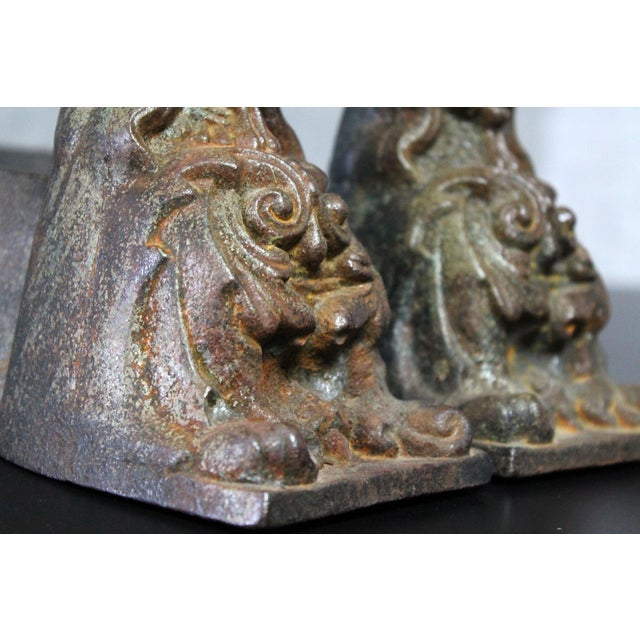 Antique French Cast Iron Female Figural Andirons or Firedogs - Pair For Sale - Image 10 of 11