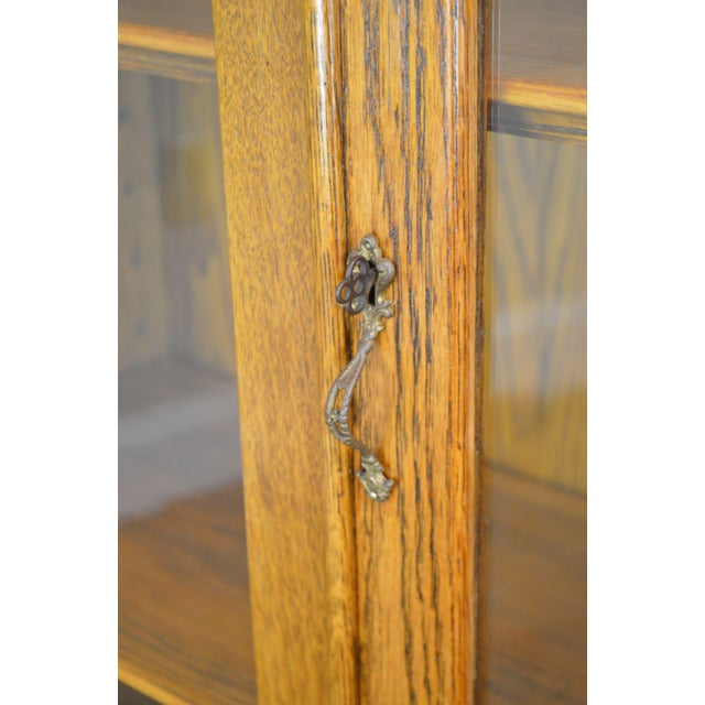 Antique Victorian Oak 2 Door Bookcase For Sale - Image 11 of 12