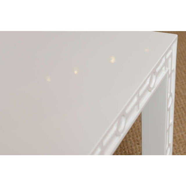 Modern White Lacquered Graphic and Sculptural Side Tables - a Pair For Sale - Image 9 of 10