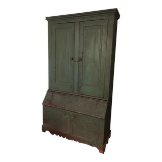 Early 20th Century Painted Wood Cupboard For Sale