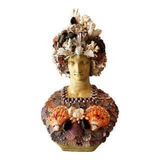 La Sirena Seashell Goddess Sculpture For Sale