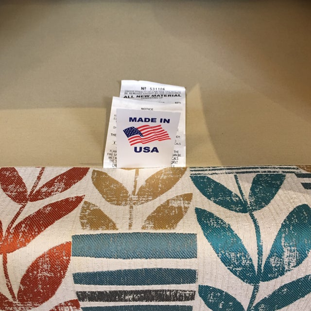 Custom Contemporary Leaf Motif Upholstered Arm Chair - Image 9 of 11