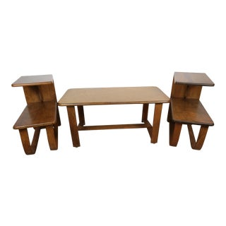 Mid-Century Modern Art Deco Form Occasional Table Suite - 3 Pieces