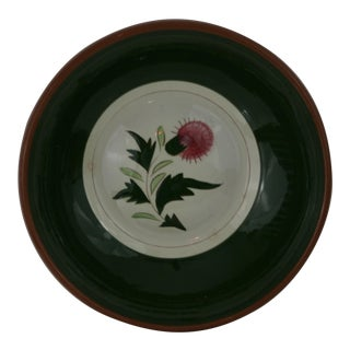 """Vintage Stangl Pottery Hand Painted 10"""" Serving Bowl For Sale"""