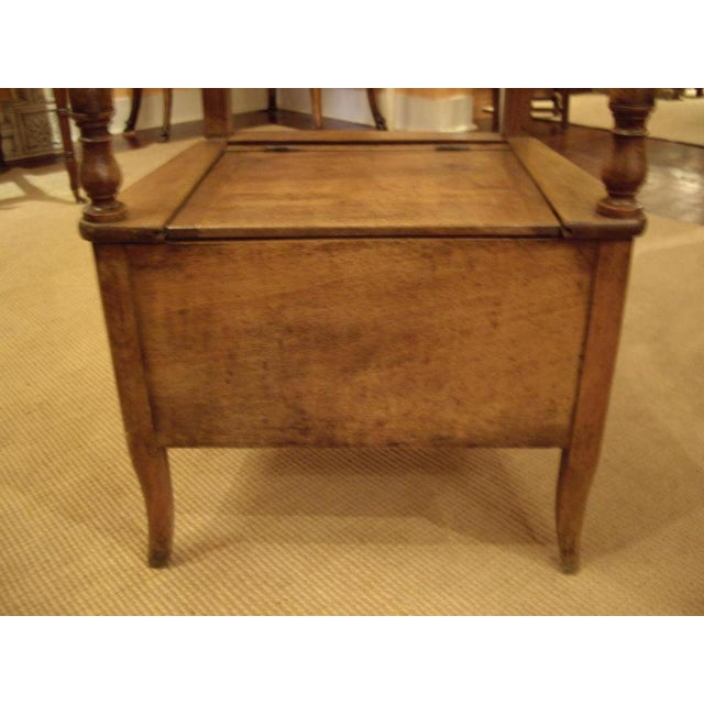 19th C. French Walnut Potty Chair For Sale - Image 4 of 8