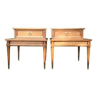 American of Martinsville Mid Century Walnut Side Tables - a Pair For Sale