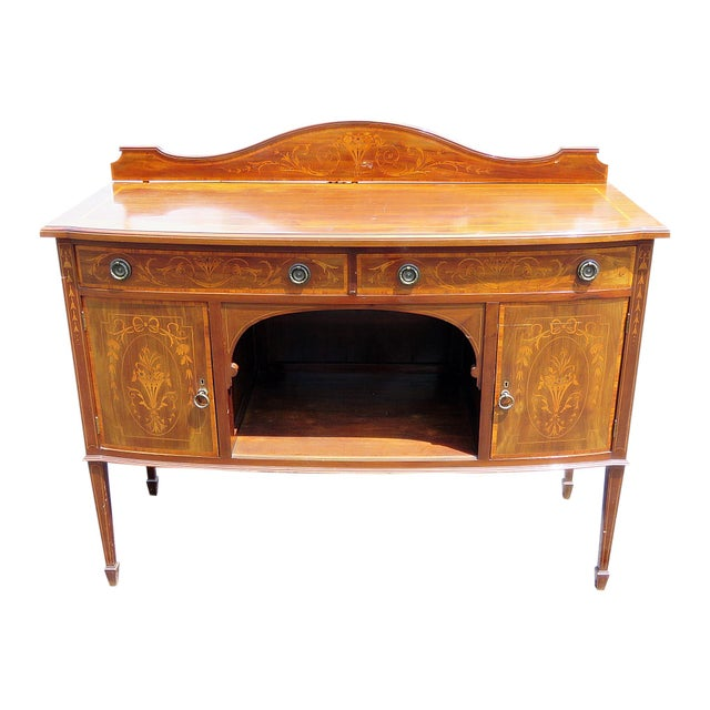 English Attr. Edwards and Roberts Inlaid Server For Sale - Image 11 of 11