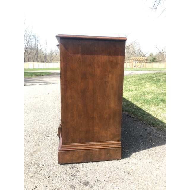 Baker Furniture Company Art Deco Walnut Side Board byBaker Furniture For Sale - Image 4 of 9