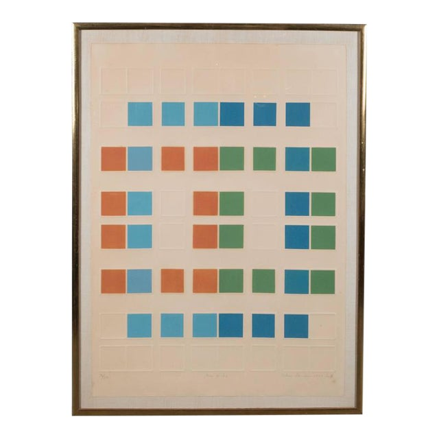 "Mid-Century Arlene Sherman ""Five of Six"" Lithograph Printed in Colors, 1969 - Image 1 of 8"
