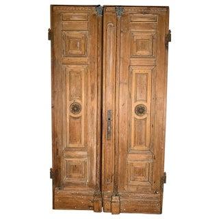 Antique 19th Century Handmade Pine Doors For Sale