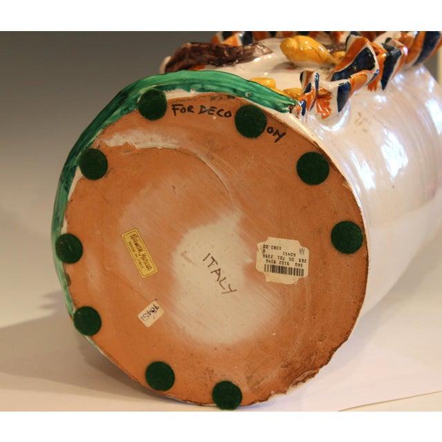 Ceramic Large Italian Sicilian Pottery Head Vase For Sale - Image 7 of 11