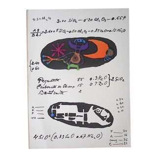Vintage Mid Century Ltd. Ed. Lithograph-Joan Miro-For Derriere Le Miroir-Folio-1951 For Sale