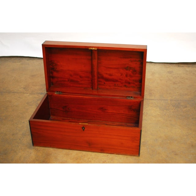 Anglo- Indian Teak Treasure Chest For Sale In San Francisco - Image 6 of 7