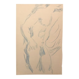 1996 Male Nude Drawing For Sale