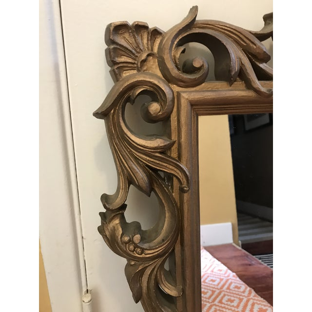 Mid-Century Gold Scroll Mirror - Image 4 of 9