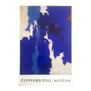 "Clyfford Still Abstract Expressionist Lithograph Poster ""Ph - 160"", 1957"