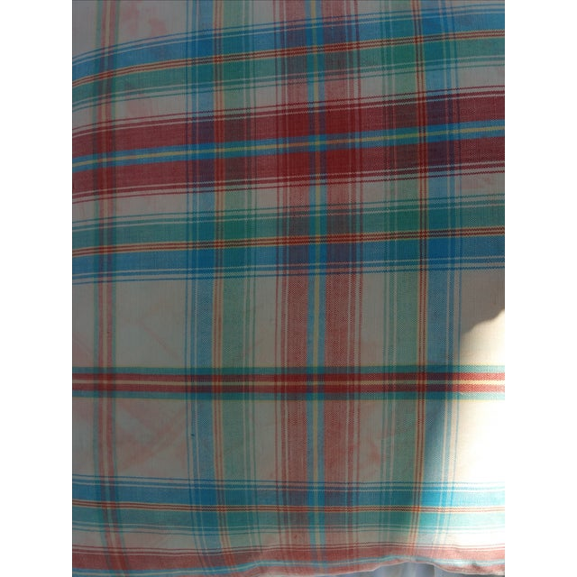 1970's Madras Plaid Pillows - Image 3 of 6