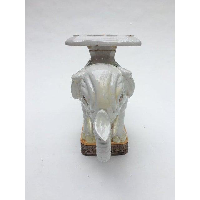 Asian Large Italian Terra Cotta Elephant Garden Stool For Sale - Image 3 of 13