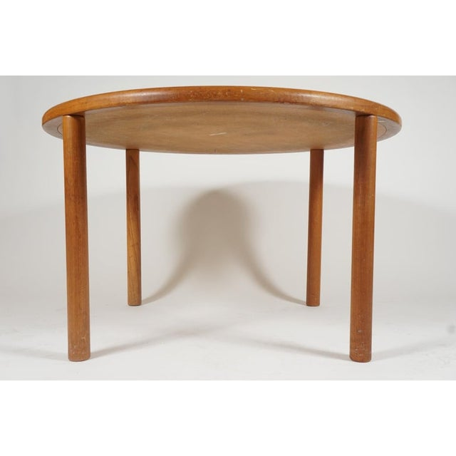 Tue Poulsen Designed Ceramic Tile Dining/ Dinette Teak Table by Haslev For Sale In New York - Image 6 of 10