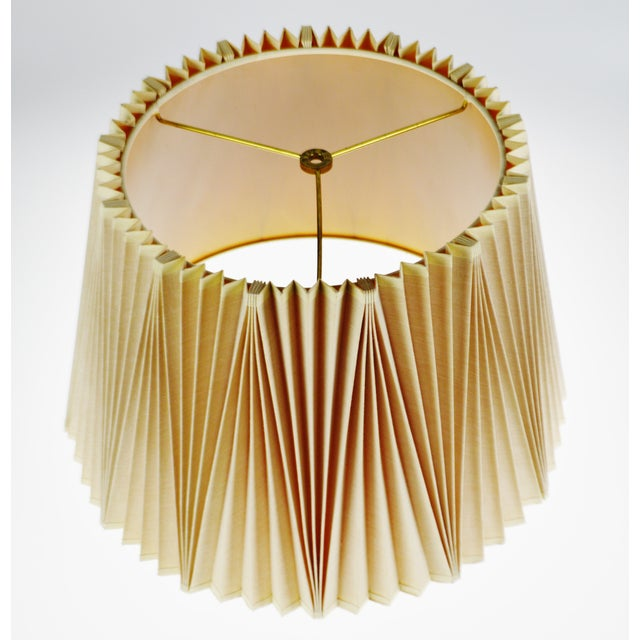 Stiffel Vintage Large Stiffel Empire Style Pleated Fabric lampshade For Sale - Image 4 of 11
