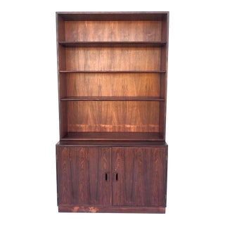 Mid-Century Modern Rosewood Bookcase and Cabinet by John Stuart For Sale