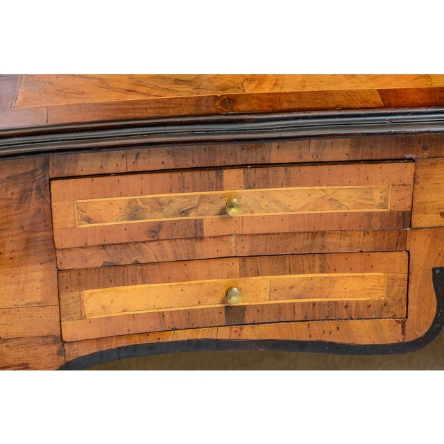 1900s Italian Olive Wood Writing Desk / Console For Sale - Image 4 of 8