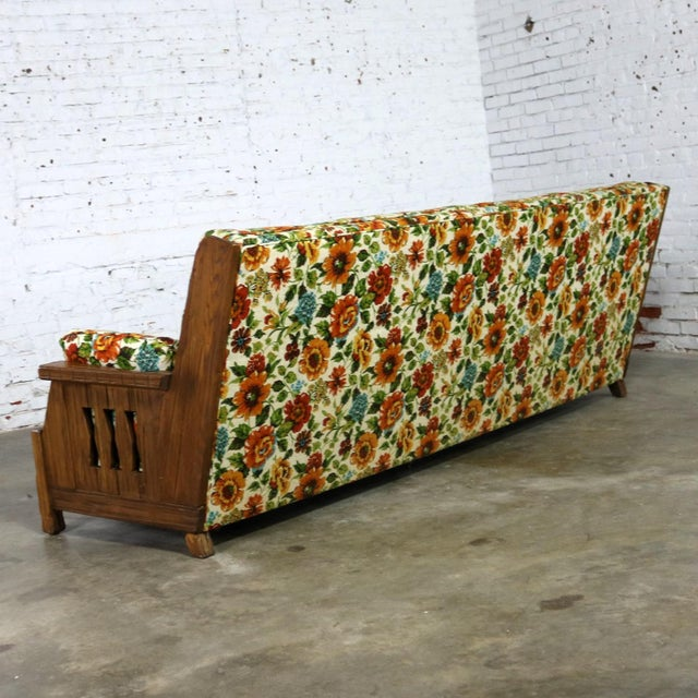 Mid 20th Century Ranch Oak Western Style Sofa Attributed to A. Brandt Company For Sale - Image 5 of 13