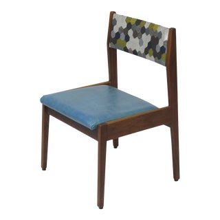 Jens Risom Walnut Sidechair For Sale