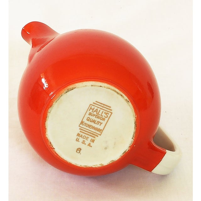 Vintage Hall's Superior Quality Red Pitcher - Image 4 of 4