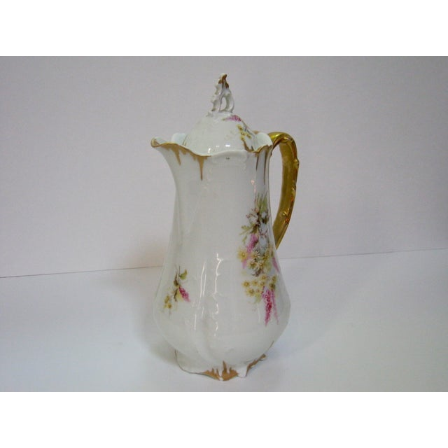 Antique German Hand Decorated Chocolate / Cocoa Pot For Sale - Image 4 of 8