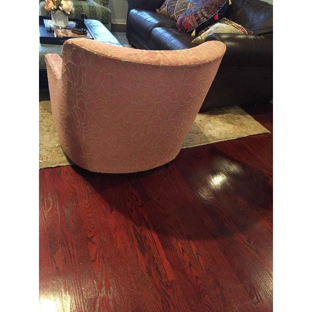 Baker Furniture Company Baker Upholstered Chair For Sale - Image 4 of 10
