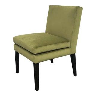RJones Green Velvet Southampton Chair For Sale