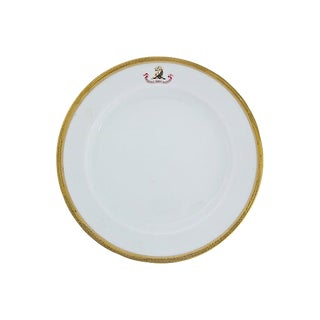 Antique English Family Crest Plate, C. 1830 For Sale