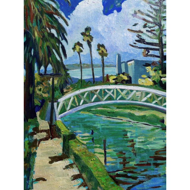 "Monumental ""Venice Canal, California"" Oil Painting For Sale In Los Angeles - Image 6 of 10"