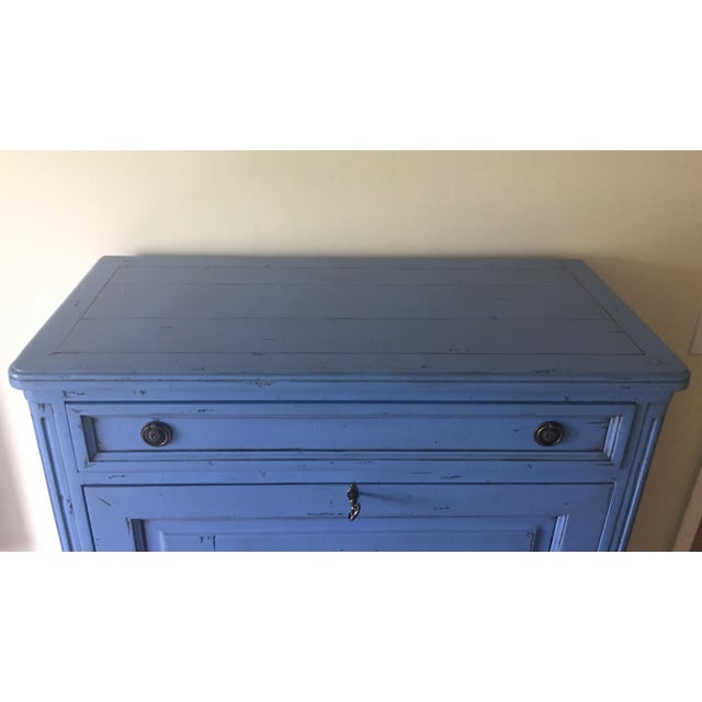 Vintage French Country Painted Wooden Secretary Desk For Sale - Image 11 of 13