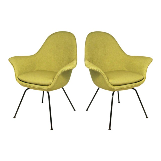 Pair of Mid-century Modern Chairs by Hans Bellman for Strassle, Switzerland 1954 For Sale