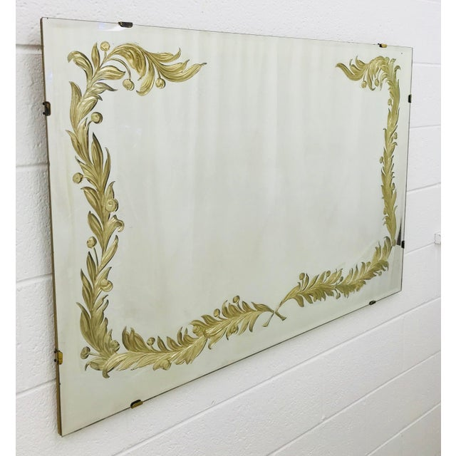 Anglo-Indian Antique Art Deco Gold Foil Mirror For Sale - Image 3 of 13