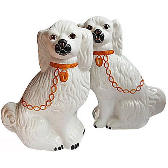 Pair of Vintage Ceramic Dogs - Image 4 of 4