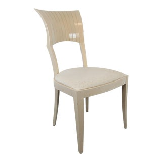 1980s Vintage Art Deco Inspired Pietro Costantini for Ello Fan Back Side Chair For Sale