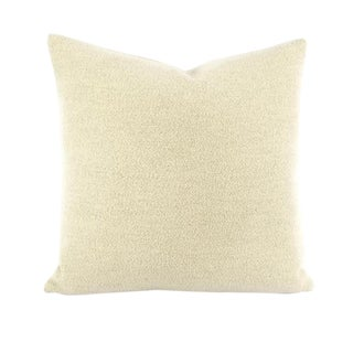 Holland and Sherry Brunswick Ivory Pillow Cover For Sale