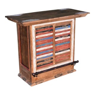 "Crafters and Weavers La Boca Bar With Wine Storage - 48"" For Sale"